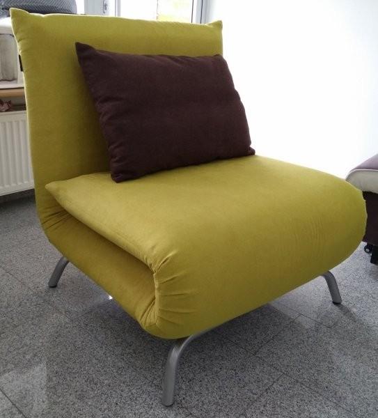 Fotelj z ležiščem Smile rumen