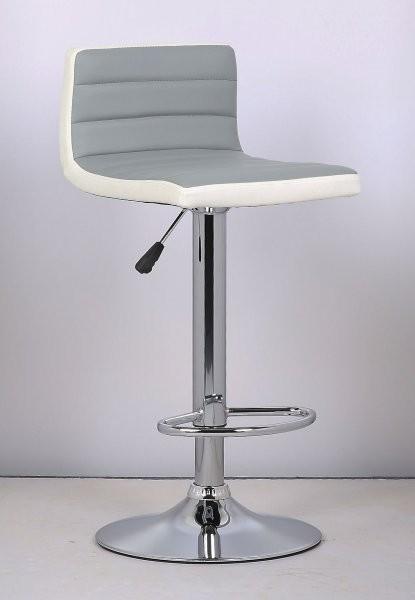 Barski stol Lirija II siva + bela