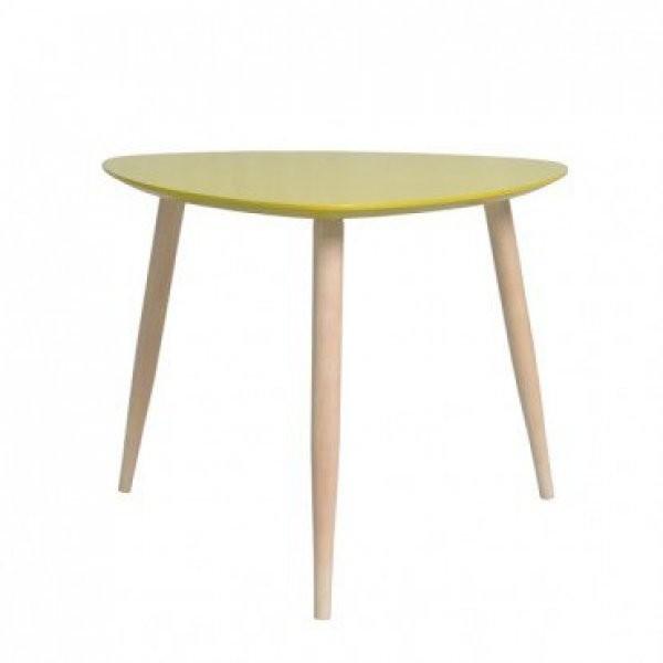 Klubska miza Manon trikotna rumena