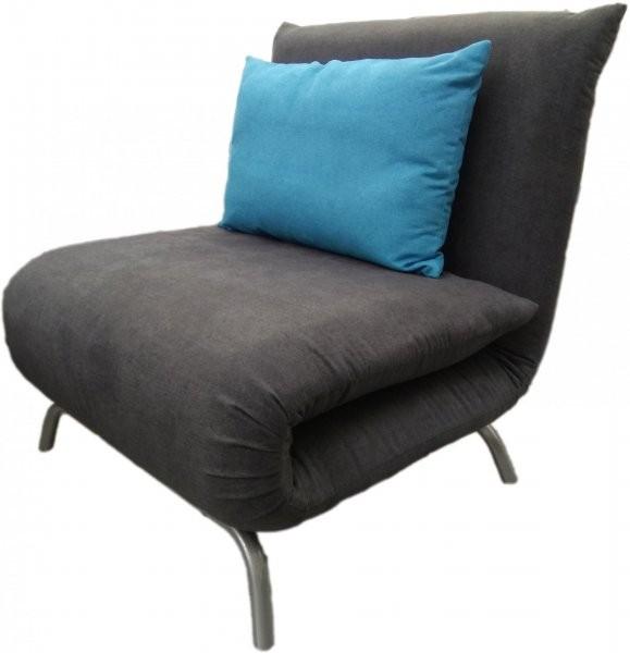 Fotelj z ležiščem Smile siv/modr