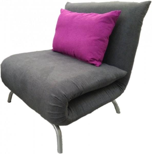 Fotelj z ležiščem Smile siv/viola