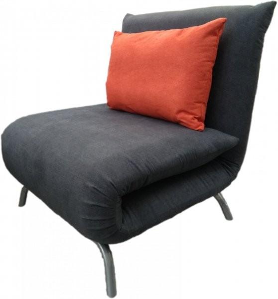 Fotelj z ležiščem Smile siv/rumen