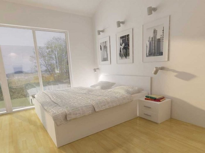 Dvižna postelja Lift bela - 180x200 cm