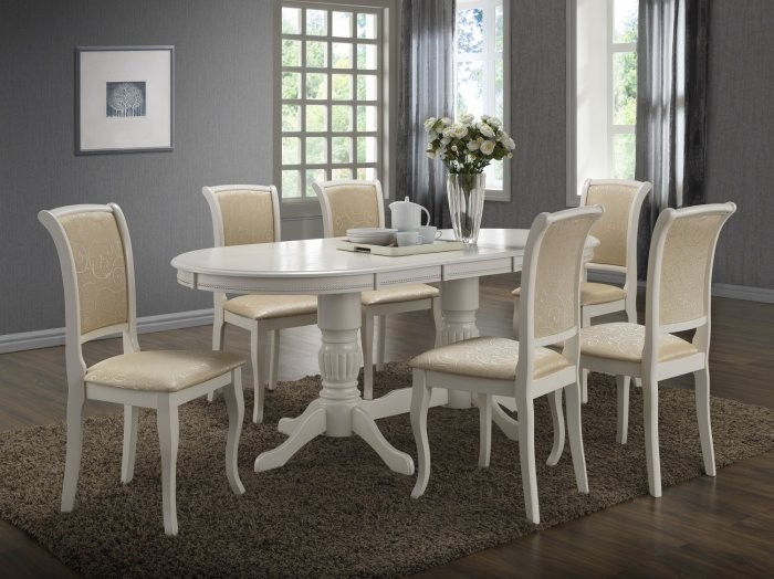 Jedilna miza raztegljiva Anjelica bela