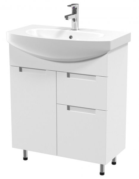 Omarica z umivalnikom Quadro - 70 cm talna