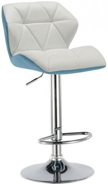 Barski stol Rowen bela + modra