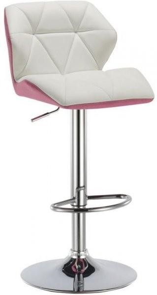 Barski stol Rowen bela + roza