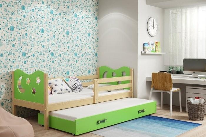 Otroška postelja Miko - 80x190 cm z dodatnim ležiščem