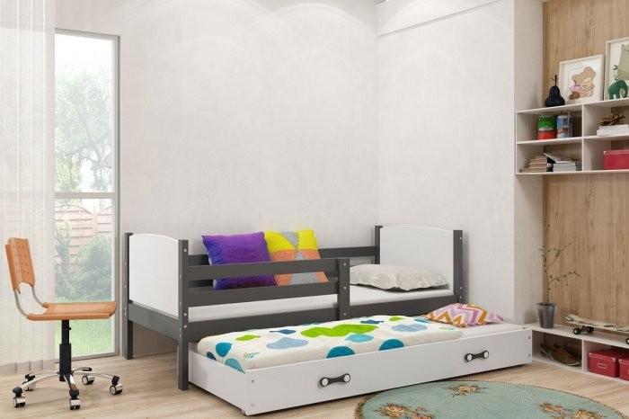 Otroška postelja Tami - 90x200 cm z dodatnim ležiščem