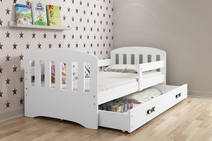Otroška postelja Classic - 80x160 cm - bela+bela