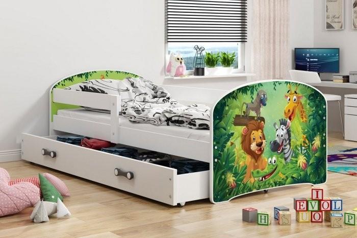 Otroška postelja Luki - 80x160 cm - barva bela
