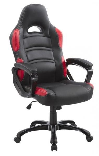 Pisarniški stol Mavis rdeč+črna