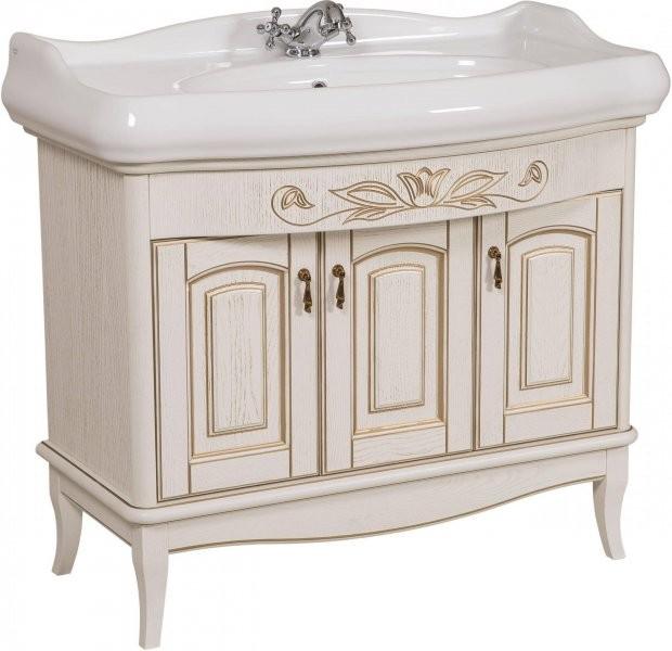Omarica z umivalnikom Michela - 100 cm vanila