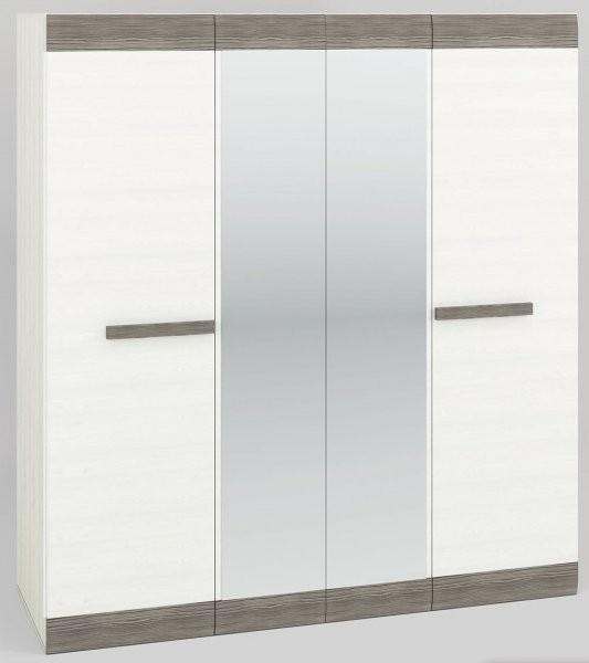 Garderobna omara z ogledalom Blanco 28