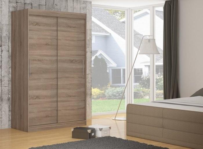 Garderobna omara z drsnimi vrati Denver 150x200x58 cm