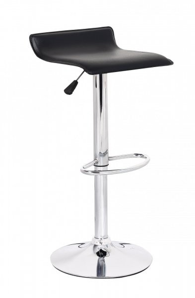 Barski stol Wave II črn