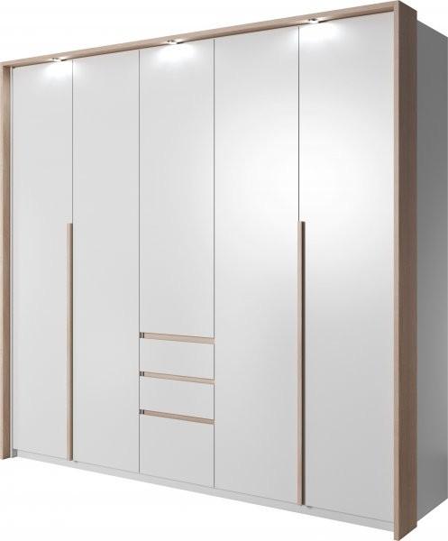 Garderobna omara Xelo 230 z okvirjem in led trakom