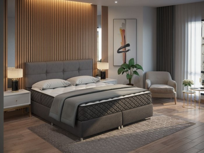Boxspring postelja Nord - 160x200 cm