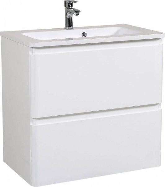 Omarica z umivalnikom Akcent - 80 cm bela stenska