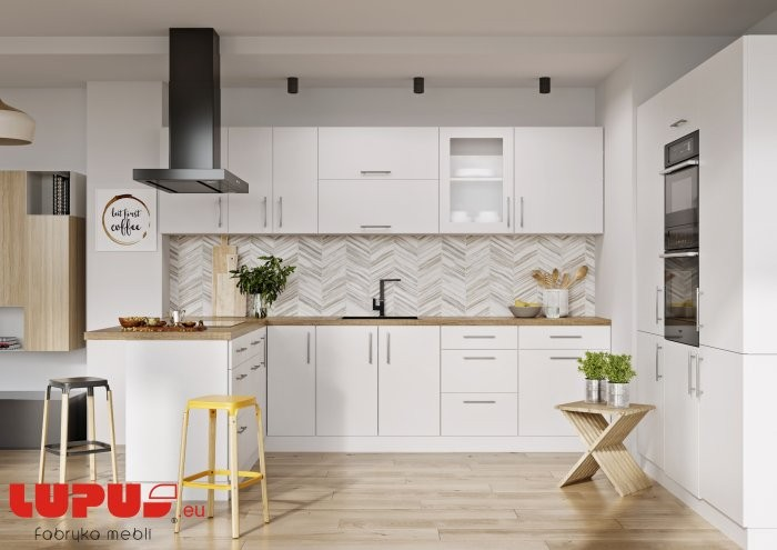 Kuhinjski sestav Luna Bianco Super Mat