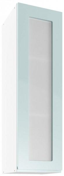 Modul Vegas blue - UHOW 30 - zgornja steklena omarica z dvema policama