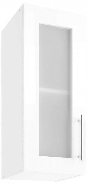 Modul Luna white - UOW 30 - zgornja steklena omarica s polico