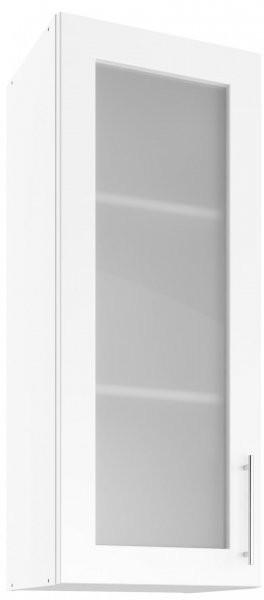 Modul Luna white - UHOW 40 - zgornja steklena omarica z dvema policama