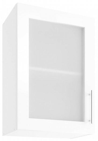 Modul Luna white - UOW 50 - zgornja steklena omarica s polico