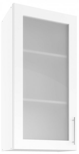 Modul Luna white - UHOW 50 - zgornja steklena omarica z dvema policama