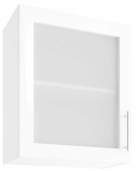 Modul Luna white - UOW 60 - zgornja steklena omarica s polico