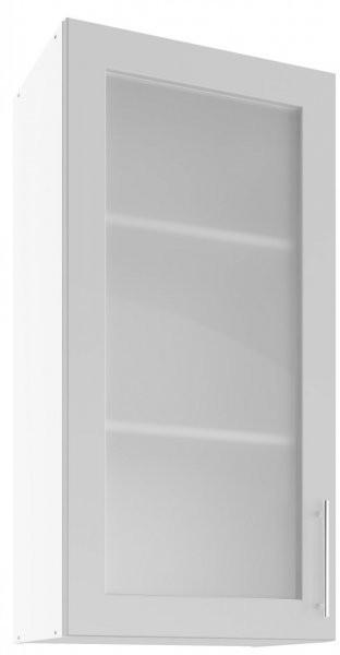 Modul Luna light grey - UHOW 50 - zgornja steklena omarica z dvema policama