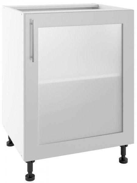 Modul Luna light grey - POW 60 - sposnja steklena omarica s polico