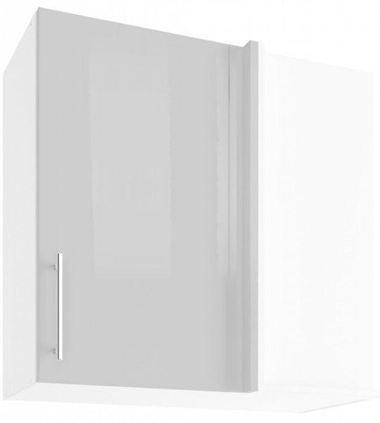 Modul Luna light grey - UNPO 75 - zgornja korna omarica s polico