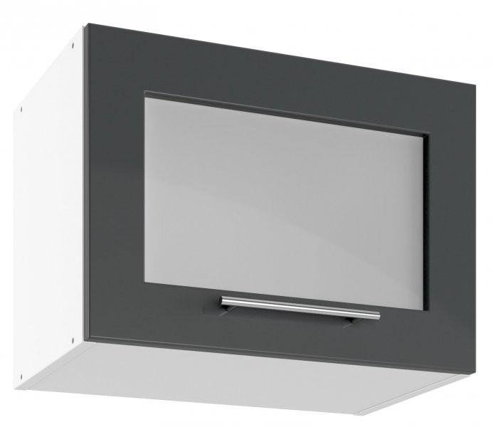 Modul Luna graphite - UPOW 50 - zgornja steklena omarica