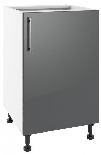Modul Luna graphite - PO 50 - spodnja omarica s polico