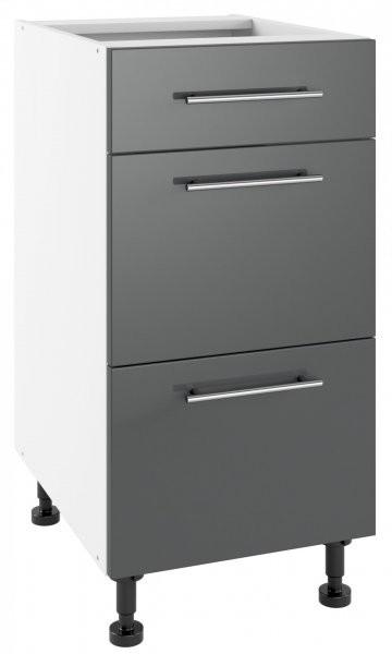 Modul Luna graphite - PSZ 40/3 - spodnja omarica s tremi predali