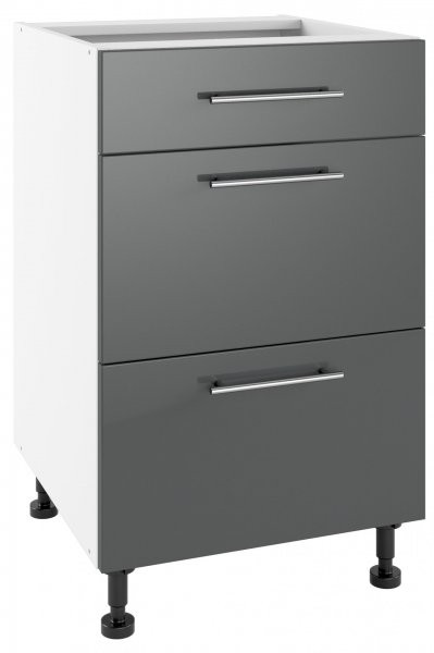Modul Luna graphite - PSZ 50/3 - spodnja omarica s tremi predali
