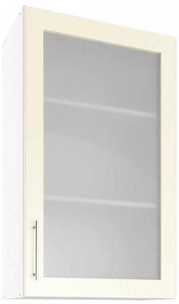 Modul Luna cream - UHOW 60 - zgornja steklena omarica z dvema policama