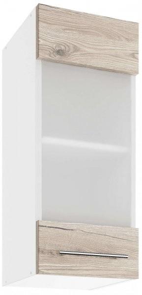 Modul Luna san remo - UOW 30 - zgornja steklena omarica s polico