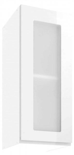 Modul Vegas white - UOW 30 - zgornja steklena omarica s polico