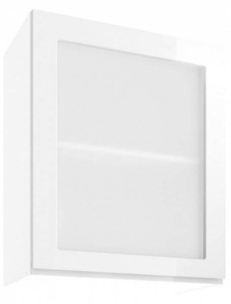 Modul Vegas white - UOW 60 - zgornja steklena omarica s polico