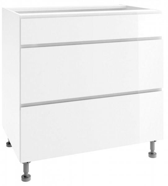 Modul Vegas white - PSZ 80/3 - spodnja omarica s tremi predali