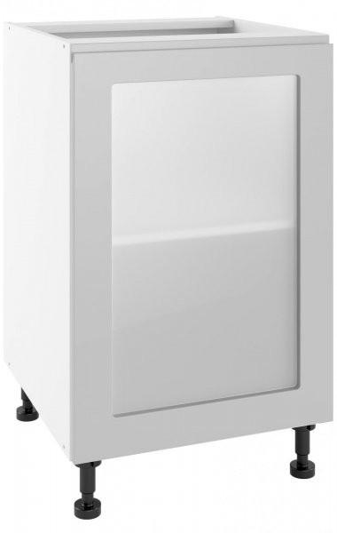 Modul Vegas light grey - POW 50 - spodnja steklena omarica s polico