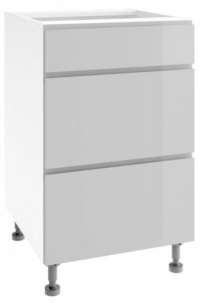 Modul Vegas light grey - PSZ 50/3 - spodnja omarica s tremi predali