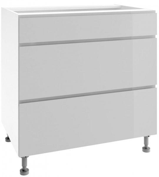 Modul Vegas light grey - PSZ 80/3 - spodnja omarica s tremi predali