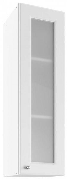 Modul Bella bianco super mat - UHOW 30 - zgornja steklena omarica z dvema policama