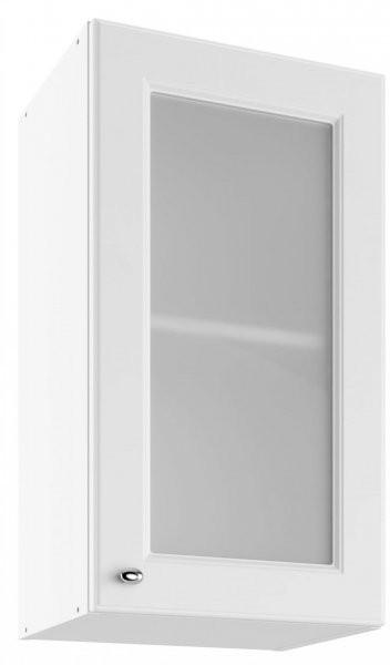 Modul Bella bianco super mat - UOW 40 - zgornja steklena omarica s polico