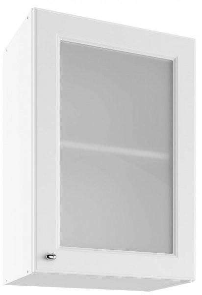Modul Bella bianco super mat - UOW 50 - zgornja steklena omarica s polico