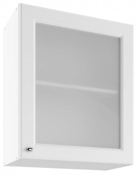 Modul Bella bianco super mat - UOW 60 - zgornja steklena omarica s polico