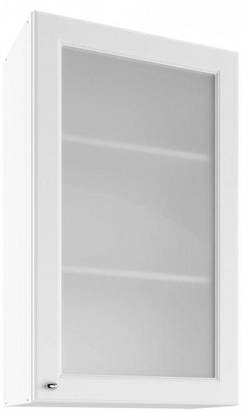 Modul Bella bianco super mat  - UHOW 60 - zgornja steklena omarica z dvema policama